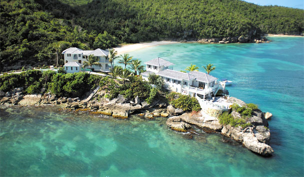 Rock Cottage at Blue Waters: Aerial view