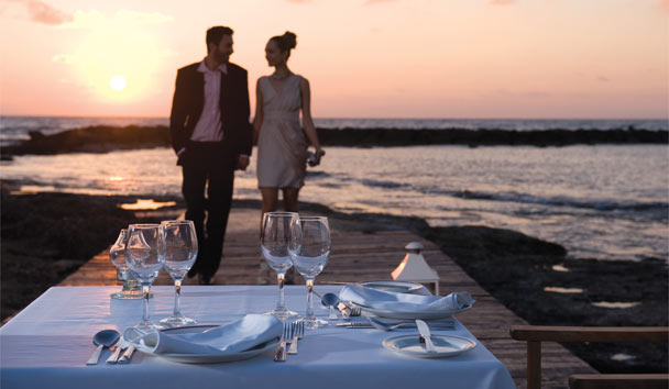 Constantinou Bros Asimina Suites Hotel: Fall in love all over again with a romantic stroll along the sands of Cyprus