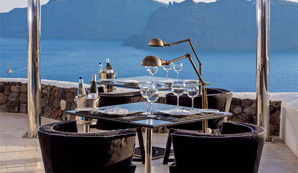 Canaves Oia Suites: Dining