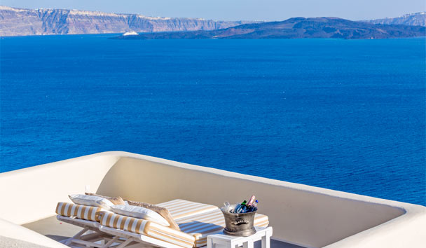 Canaves Oia Suites: Guest Balcony
