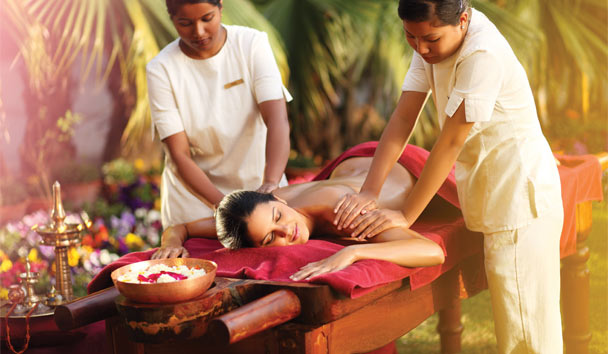 Experience deep relaxation with ancient Indian Ayurvedic treatments at Ananda in the Himalayas