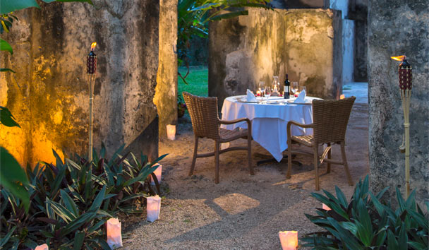 Hacienda Santa Rosa, a Luxury Collection Hotel: Private romantic dinner