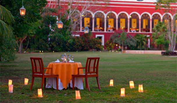 Hacienda Temozon, a Luxury Collection Hotel: Romantic dinner setup