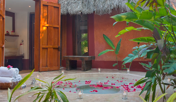 Hacienda San Jose, a Luxury Collection Hotel: Plunge pool at Mayan Villa