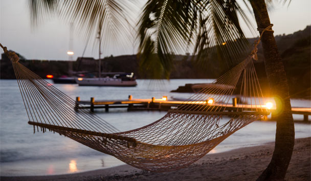 The Inn at English Harbour: Beach hammock