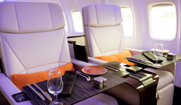 Four Seasons Jet, On Board Dining