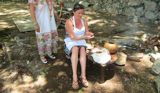 Learn how to make traditional Mexican delicacies in authentic Mayan fashion