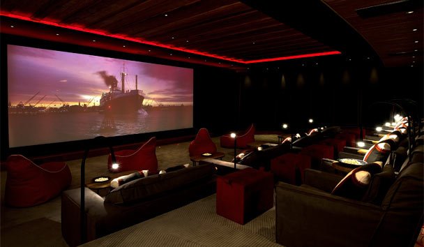 The Alpina Gstaad: Private cinema