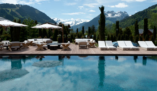 The Alpina Gstaad: Outdoor Garden Swimming Pool