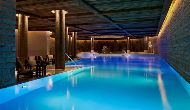 The Alpina Gstaad: Six Senses Spa pool