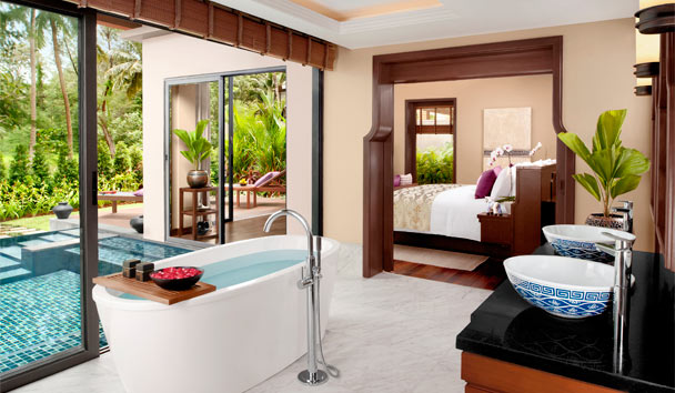 Anantara Layan Phuket Resort: Beachfront Pool Villa bathroom