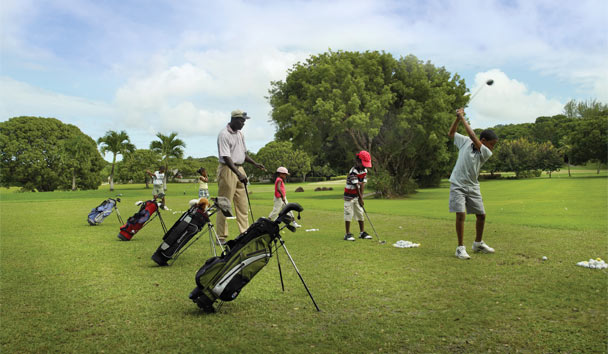 Golf is a game for all ages - Sandy Lane offers a children's golf clinic