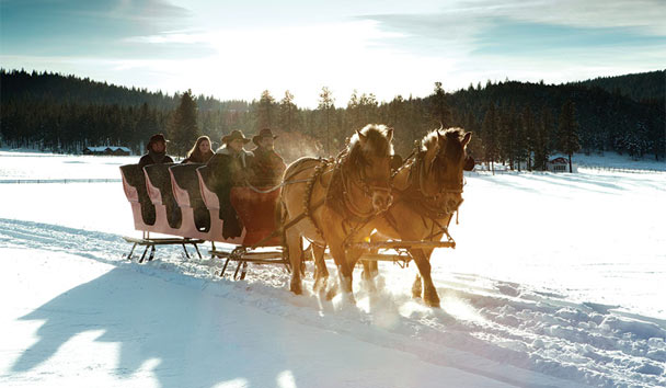 The Resort at Paws Up: Winter sleigh ride