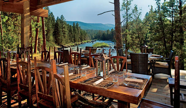 The Resort at Paws Up: Tent dining
