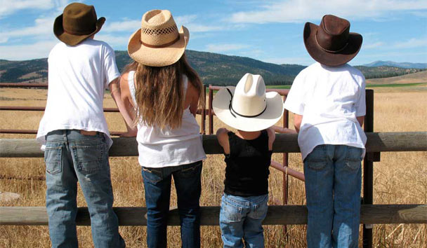 The Resort at Paws Up: All ages can get involved in cowboy life