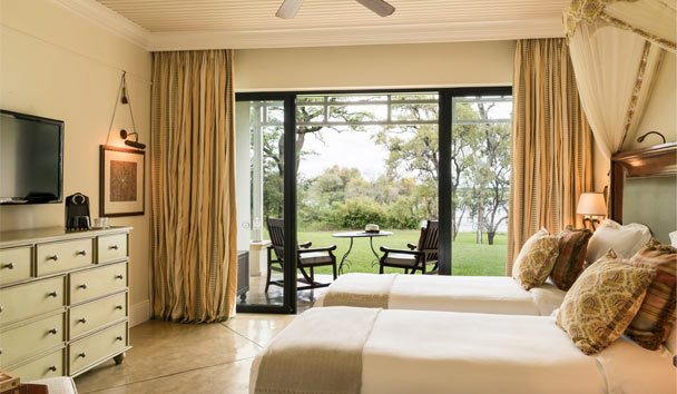 The Royal Livingstone Victoria Falls Zambia Hotel by Anantara: Deluxe Twin Room