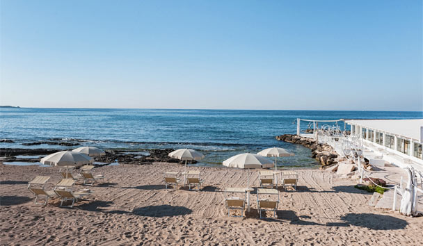 La Peschiera: Private Beach