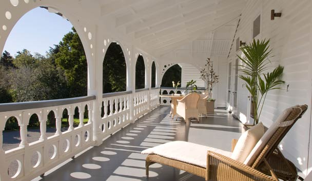 Otahuna Lodge: Main Verandah