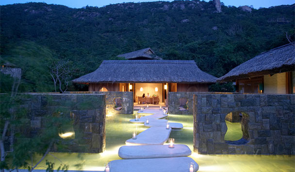 Relax in the midst of lush vegetation at Six Senses Spa