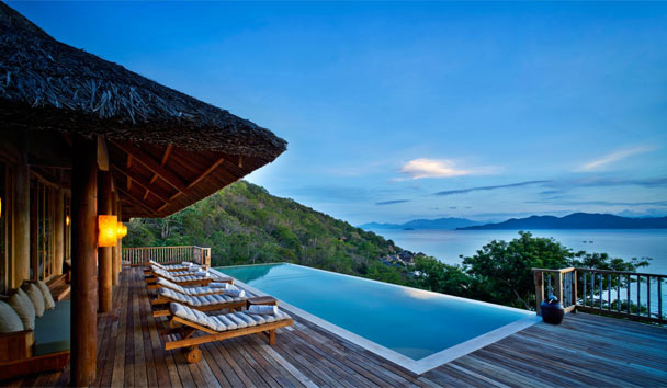 The views from the Hill Top Pool Villa are simply sublime