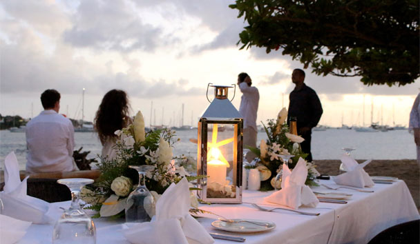Calabash Luxury Boutique Hotel: Beach dinner