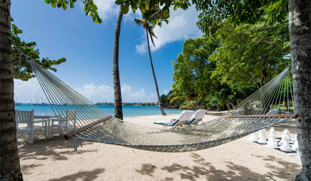 Calabash Luxury Boutique Hotel: Beach hammock