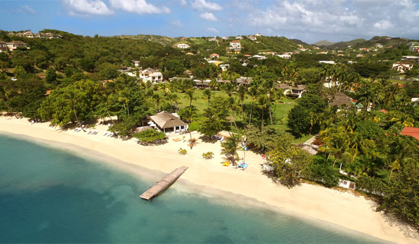 Calabash Luxury Boutique Hotel: Aerial view