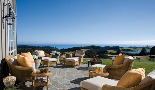 The Farm at Cape Kidnappers: Lounge Terrace