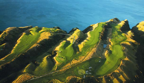The Farm at Cape Kidnappers: Golf Aerial View