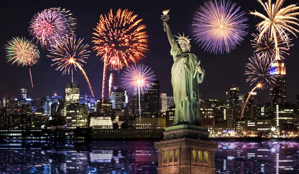 New York, New Year Fireworks
