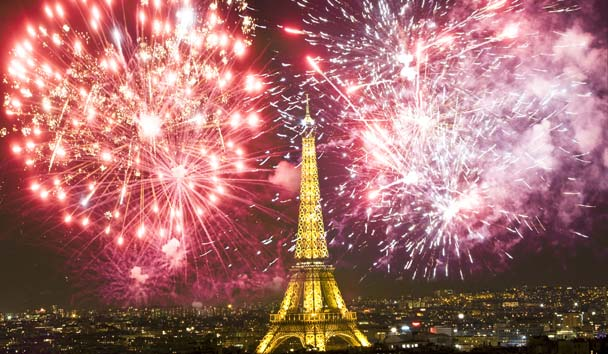 Paris, City Fireworks