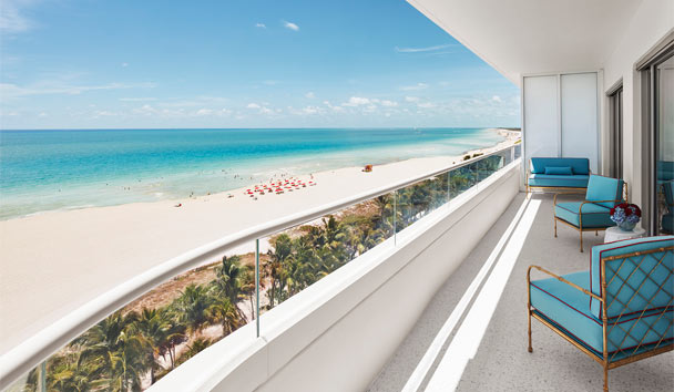 Faena Hotel Miami Beach: Ocean view from terrace