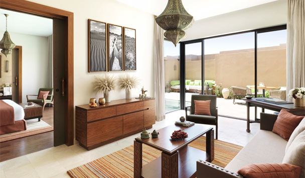 Anantara Al Jabal Al Akhdar Resort: One Bedroom Garden Pool Villa Living Room