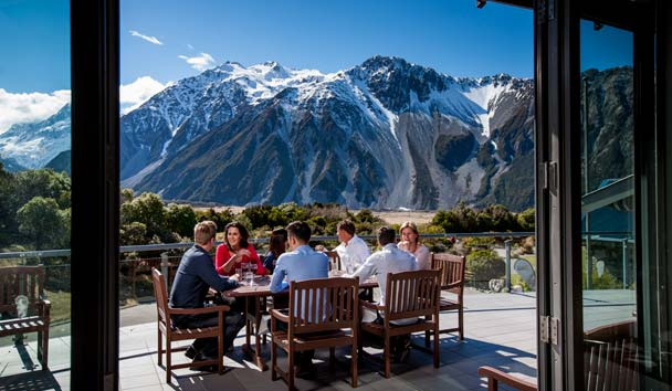 Dining at Mount Cook National Park