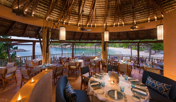 Constance Lemuria Seychelles, Dining at Nest