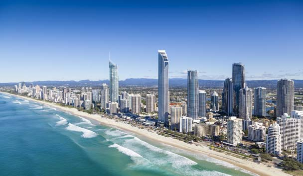Aerial View of Surfer's Paradise, Gold Coast