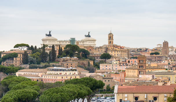 Valentine's Day in Italy: Rome from the Orange Garden