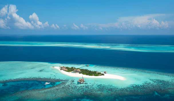 Four Seasons Private Island Maldives at Voavah: Aerial View