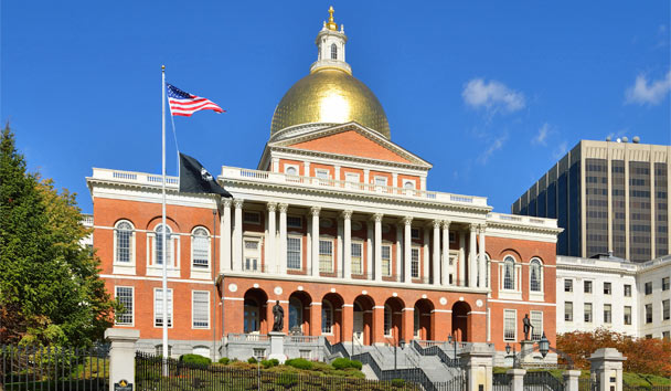 State House at Beacon Hill in Boston
