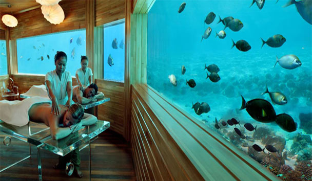 Top Ten Spas: Huvafen Fushi, Underwater Spa