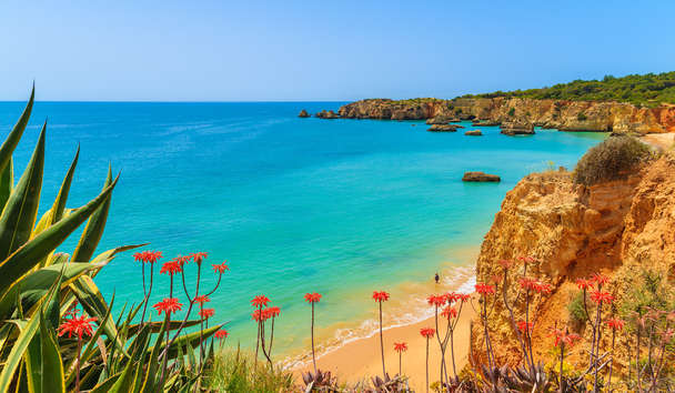 Praia da Rocha beach in the Algarve