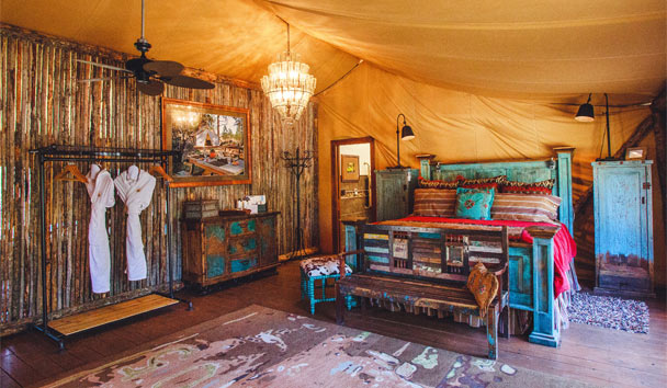 The Resort at Paws Up: Tent Interior