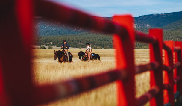 The Resort at Paws Up: Western Horse Riding