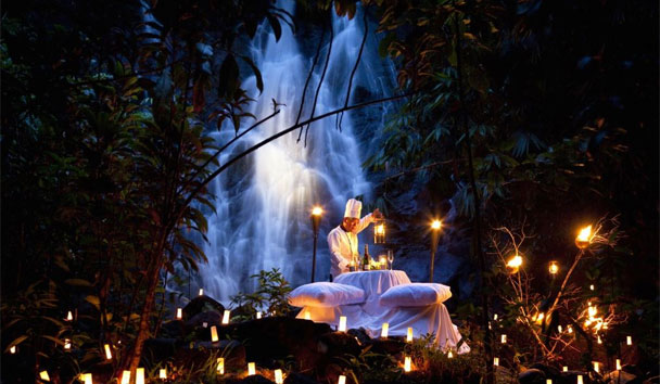 The Sarojin: Private Candlelit Dinner Next to the Jungle Waterfall