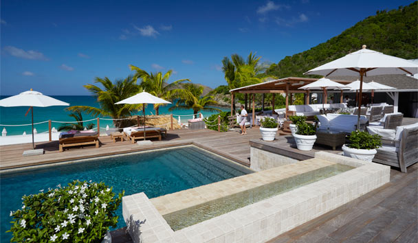 Cheval Blanc St-Barth Isle de France: Le White Bar pool area