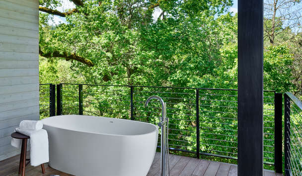 Las Alcobas, A Luxury Collection Hotel, Napa Valley: Patio Bath