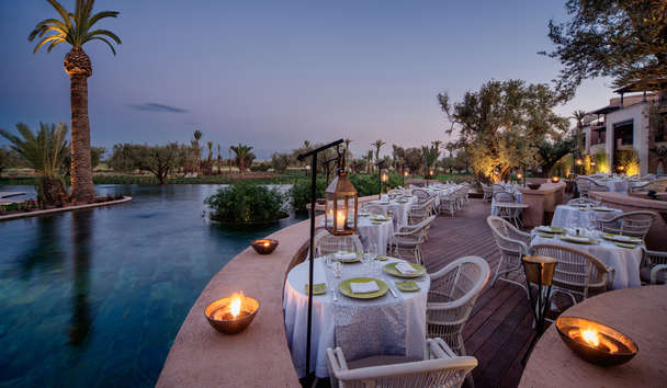 Fairmont Royal Palm Marrakech: Dining Terrace