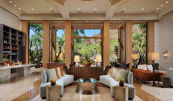 The Canyon Suites at The Phoenician: Canyon lobby