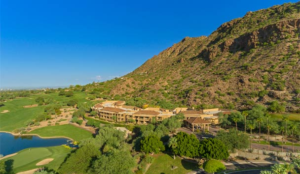 The Canyon Suites at The Phoenician: Aerial view