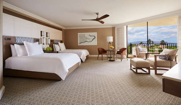 Four Seasons Resort Maui at Wailea: Club Ocean View Room with Twin Queen Beds